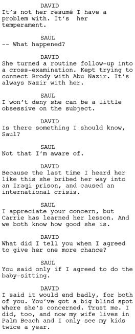 Homeland Pilot Dialogue 1