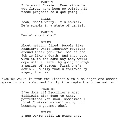 Frasier Good Grief Dialogue 1