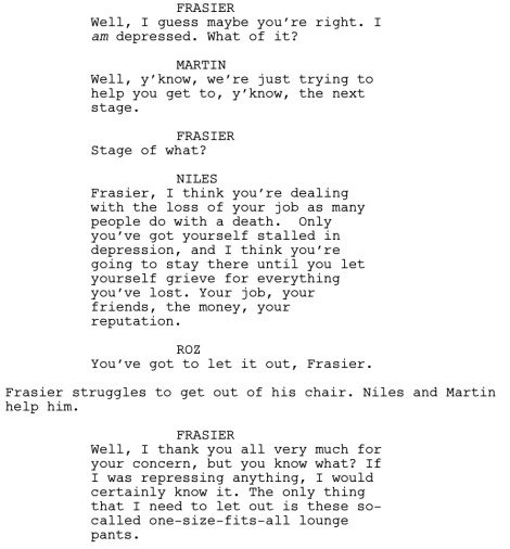 Frasier Good Grief Dialogue 2