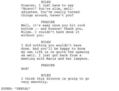 Frasier Good Grief Dialogue 3