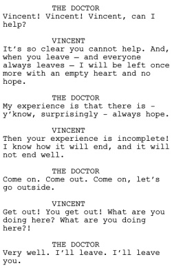 Vincent and the Doctor Dialogue 1