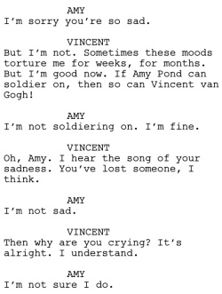 Vincent and the Doctor Dialogue 2