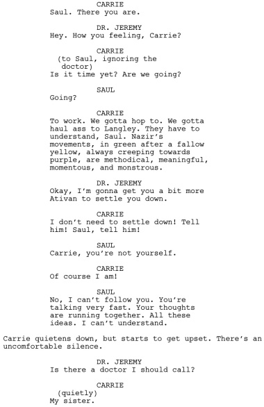 Homeland The Vest Dialogue 1