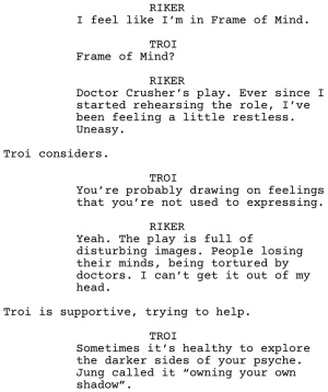Star Trek TNG Frame of Mind Dialogue 1